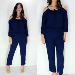 Elsa Jumpsuit Navy Blue