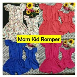 Mom and Kid Romper Set