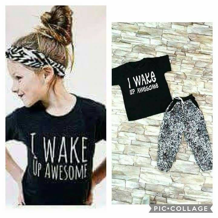 I wake up awesome kids terno